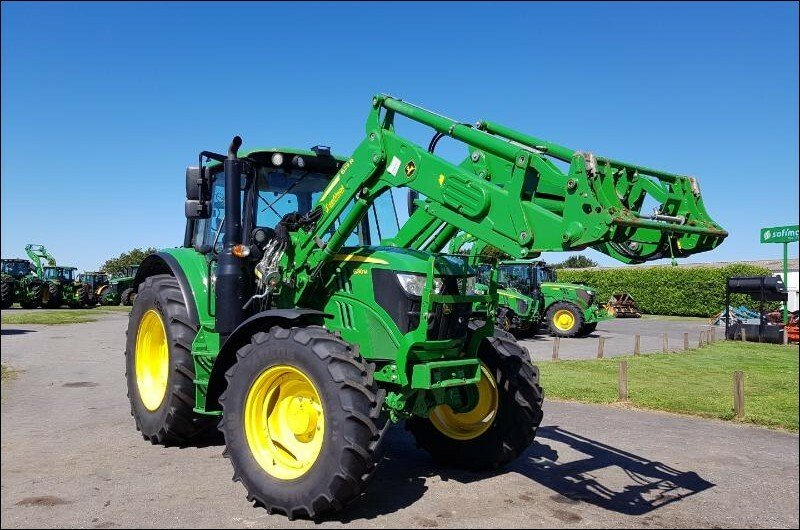 Tracteur agricole John Deere 6130m pq+chargeu - 1