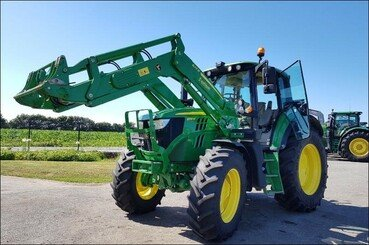 Tracteur agricole John Deere 6130m pq+chargeu - 2